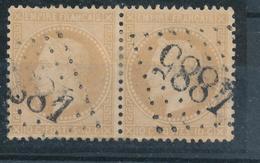 N°28 PAIRE GANDS CHIFFRES - 1863-1870 Napoleon III With Laurels