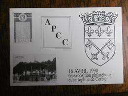 D 80 - Corbie - 6e Exposition Philathélique Et Cartophile - 16 Avril 1990 - Blason - Corbie