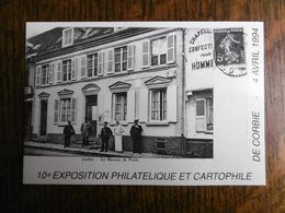 D 80 - Corbie - 10e Exposition Philathélique Et Cartophile - 4 Avril 1994 - Le Bureau Poste - Corbie