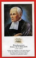 Image Pieuse  - Frère SCUBILION Avec Petit Morceau De Son Cercueil  - Ile De La REUNION (Im 986) - Images Religieuses