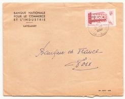 """France Enveloppe à En-tête """" Banque Nationale Pour Le Commerce """" Du 21 Novembre 1959 Pour Foix - France"""