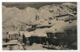 Cartolina Courmayeur En Hiver - Italia
