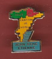 54593- Pin's .L'ancien Maire De Bagnols-en-Forêt, Jean-René Etienne.. - Celebrities