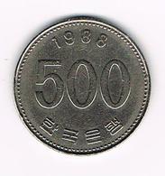 &  ZUID KOREA 500 WON 1988 - Corée Du Sud