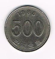 &  ZUID KOREA 500 WON 1988 - Korea, South