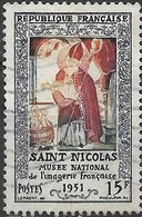 FRANCE 1951 Popular Pictorial Art Exhibition, Epinal - 15f St. Nicholas FU - France