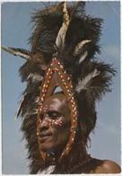 Kikuyu Dancer, Ostrich Feather, Head Gear, Kenya, 1974 Used Postcard [21969] - Kenya