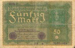 ALLEMAGNE – 50 Mark – 24/09/1919 - [ 3] 1918-1933: Weimarrepubliek