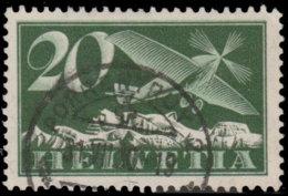 Suisse Poste Aérienne 1923. ~ A 4 Par 2 - 20 C. Monoplane - Poste Aérienne
