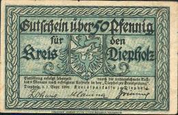 ALLEMAGNE – Kreis DIEPHOLZ - Billet De Nécessité De 50 Pfennig – 01/09/1920 - [11] Emissions Locales