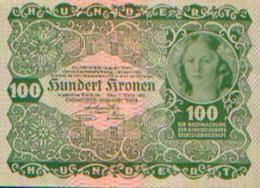 AUTRICHE – 100 Couronnes – 02//01/1922 - Autriche