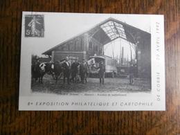 D 80 - Corbie - 8e Exposition Philathélique Et Cartophile - 20avril 1992 - Abattoir - Autobus De Ravitaillement - Corbie
