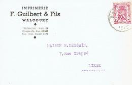 CP Publicitaire WALCOURT 1947 - F. GUILBERT & Fils - Imprimerie - Walcourt