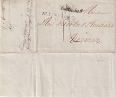"""AUTRICHE : MP . DE SMYRNE . D'AUTRICHE POUR VERVIERS . """" ALLEMAGNE PAR MAYENCE """" . TAXEE . PURIFIEE . 1808 . - ...-1850 Prefilatelía"""