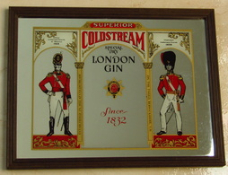 Miroir Publicitaire Gin Coldstream London Vintage Neuf - Miroirs