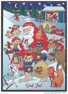 Feuille De Vignettes De Noël Des Iles Aland 1998 Neuve - Aland