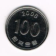 &  ZUID KOREA 100 WON 2008 - Corée Du Sud