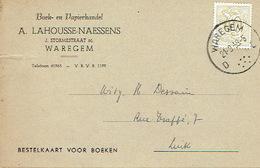 PK Publicitaire WAREGEM 1959 - A. LAHOUSSE-NAESSENS - Boek-en Papierhandel - Waregem
