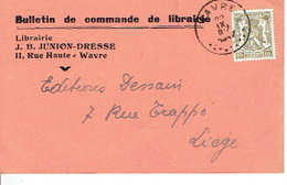 CP Publicitaire WAVRE 1947 - J. B. JUNION-DRESSE - Librairie - Wavre