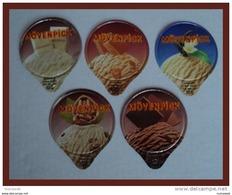 CCC - KRD N°803 - Glaces Mövenpick  - Série Complète - Opercules De Lait