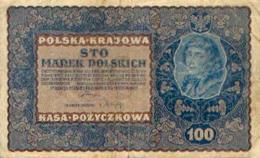 POLOGNE – 100 Marek – 28/08/1919 - Pologne