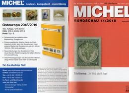 Briefmarken Rundschau MICHEL 11/2018 Neu 6€ Stamp Of The World Catalogue/magacine Of Germany ISBN 978-3-95402-600-5 - Magazines: Abonnements