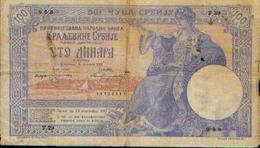SERBIE – 100 Dinars (ou 100 Francs) - 05/01/1905 - Serbie