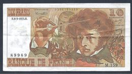 """Billet 10 Francs """"Berlioz"""" -  6/3/1975 - 1962-1997 ''Francs''"""