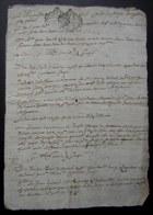 Généralité De Montauban  Foix Et Bigorre 2 Cachets Sur Un Documents Des Années 1600 à Déchiffrer, écriture Très Complexe - Manuscrits
