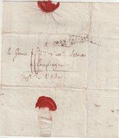 FRANCE : MP . ARMEE FRANCAISE EN ESPAGNE N°29 . DATEE D'ARANDA . TAXEE . 1808 . - Marcofilia (sobres)