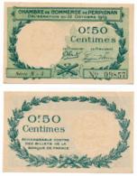 1914-1918 // C.D.C. // PERPIGNAN // 22 Octobre 1919 // 50 Centimes - Chambre De Commerce
