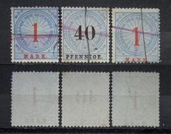 Dt.Reich Lot Telegraphie 1875 Mi.Nr.16,13 Federzug     (I124) - Gebraucht