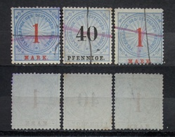 Dt.Reich Lot Telegraphie 1875 Mi.Nr.16,13 Federzug     (I124) - Usados