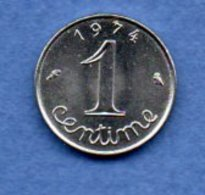 Epi -  1 Centime 1974 Rebord  -  état  SPL - France