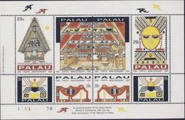 PALAU 1991 BLOC INDEPENDANCE YVERT N°432/39  NEUF MNH** - Palau