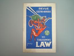 1929 Revue électro Agricole Des établissement LAW Illustrateur - Vieux Papiers