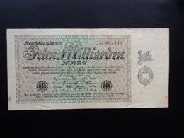 ALLEMAGNE : 10 MILLIARDEN MARK   10.9.1923     P 116b     TTB - 10 Milliarden Mark