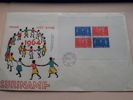 1964 - Voor Het KIND - SURINAME ( Paramaribo Filatelie 30.XI.64 ) Eerste Dag Van Uitgifte ! - Surinam