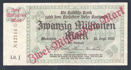 BADE 20 Millions De Mark Surchargé 2 Milliards De Mark 25/09/1923 - [11] Emisiones Locales