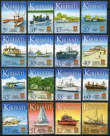 Kiribati. 2013. Water Transportation. Ships And Boats (MNH OG **) Set Of 16 Stamps - Kiribati (1979-...)
