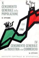 [DC7862] CPA - CENSIMENTO GENERALE DELLA POPOLAZIONE 1861/1961 - ISTITUTO CENTRALE DI STATISTICA - NV - Old Postcard - Eventi