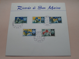 Ricordo Di San Marino ( Stamp 2.3.67 REPUBLICA DI S. MARINO ) Format Carte +/- 16,5 X 17,5 Cm. ! - Saint-Marin