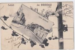 BRINDISI-SALUTI DA...VEDUTA CORSO GARIBALDI-CARTOLINA NON VIAGGIATA DATATA 28-9-1915 - Brindisi