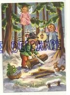 Bonne Année. Petit Bûcheron Dans La Forêt, Deux Petits Anges, Lanterne, écureuil, Panier. 1975 - Nouvel An