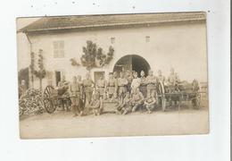 LE VALDAHON (DOUBS) CARTE PHOTO AVEC MILITAIRES DI 1 ER G M EN MANEUVRES EN 1926 - France