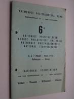 6e NATIONALE POSTZEGELBEURS Maart 1976 ANTWERPEN ( Antwerpse Postzegelbeurs VZWD ) Bouwcentrum ! - Non Classés