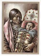 Thème  Indiens --CROW-INDIANERIN Mit  Kind --- Illustrateur Et Texte  K-D  KUBAT - Indiens De L'Amerique Du Nord