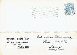 CP Publicitaire FLEURUS 1952 - BIETLOT Frères - Imprimerie - Fleurus