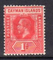 Cayman Islands GV 1912-20 1d Red, Wmk. Multiple Crown CA, Hinged Mint, SG 42 - Cayman Islands