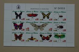 Bolivie Mini Feuille Mnh Papillons Insectes Butterflies Mariposas Bolivia - Butterflies